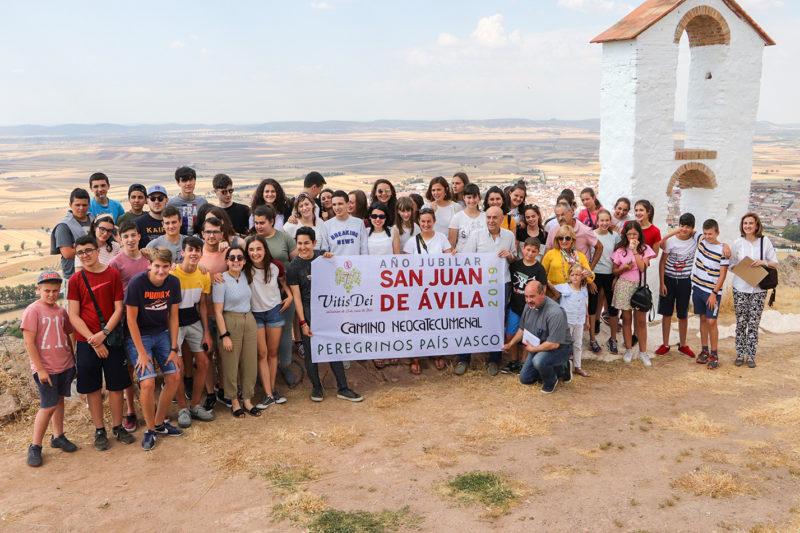 La expedición vasca del lunes, en lo alto del cerro de Santa Brígida