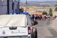 Abandonando la población de Almodóvar del Campo, con 12 kilómetros a pie por delante