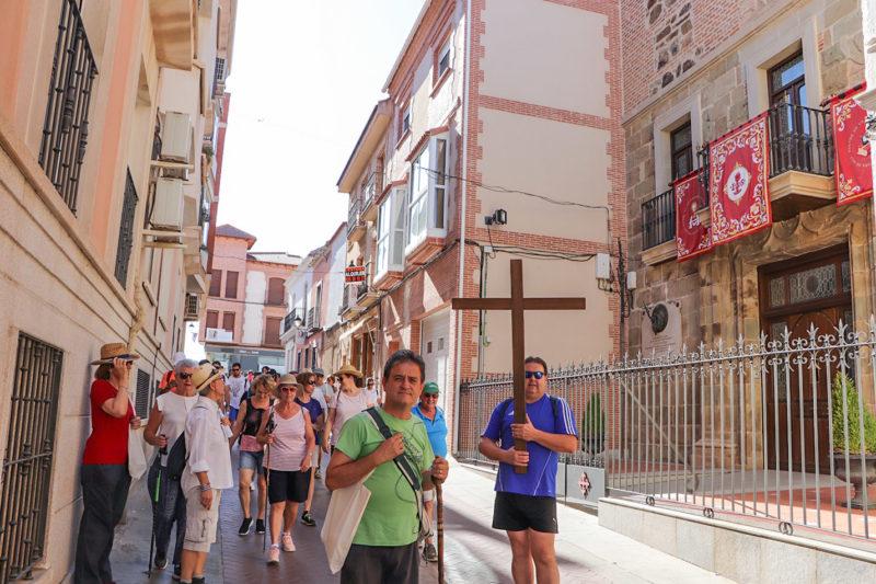 Ante la Casa Natal de san Juan de Ávila