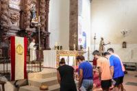 Un momento del acto compartido al calor de san Juan de Ávila