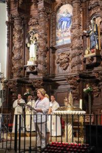 Otro instante de la misa de ayer viernes 27 de septiembre