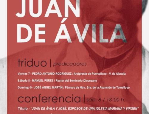 Triduo y charla del rector del Seminario de Ciudad Real en vísperas de la fiesta de san Juan de Ávila